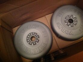 Part set (12 weights) of York Fitness weights