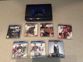 PlayStation 3, 1 x controller, 8 x games