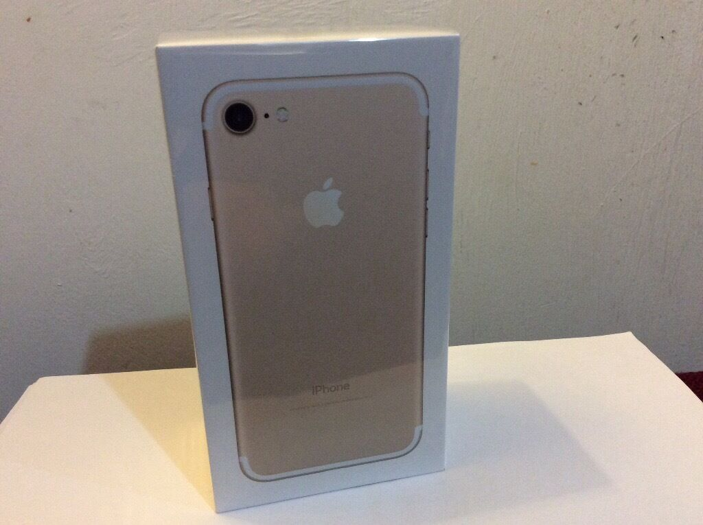 Apple iPhone 7 Brand new unwanted gift Unlocked 32gb Gold Be contract free Tel 07342369555in York, North YorkshireGumtree - Apple iPhone 7 very latest Apple iPhone 7 still factory cellophane sealed in unopened original box. 32 Gb in Gold colour. Unlocked to accept any networks nano SIM card. Brilliant brand new iPhone unwanted gift. Be contract free. Cash on collection...