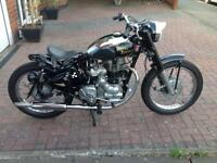 Royal Enfield 350cc, in superb condition,only covered 4000 miles, reduced to £2000, full mot.