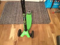 Green micro maxi scooter