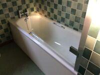 Bath and toilet