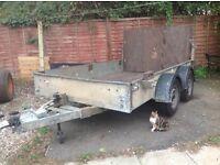 Twin axel trailer, internal size 10 feet long X 1.8 meters wide