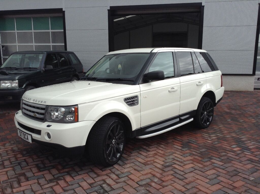 09 58 range rover sport tdv8 hse white black leather in turriff aberdeenshire gumtree. Black Bedroom Furniture Sets. Home Design Ideas