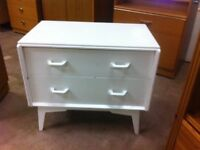 Cute retro solid wood two drawer chest