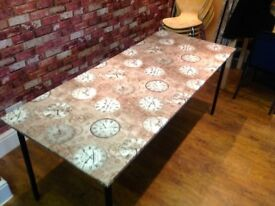 TABLE COVERED IN A MODERN WASHABLE VINYL - TOP COMES OFF FOR TRANSPORTING (2 AVAILABLE)