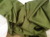 Wedding - olive green satin table runners