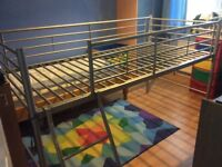 Child's Mid sleeper bed frame. Can be sold with or without mattress.