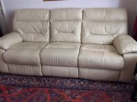 Two sofas - 3 seater recliner and 2 seater - used