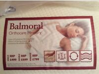 Balmoral reversible King size Mattress with memory foam and cool orthopaedic support. Brand new.