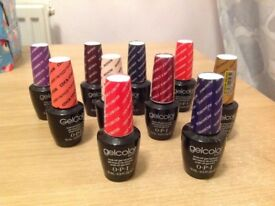 10 bottles of OPI Gelcolor for sale