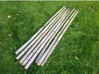 Wooden round posts