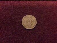 50p GIRLGUIDING UK COIN 2010