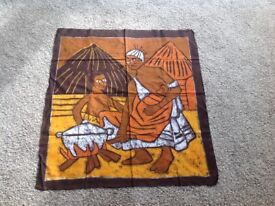 Genuine African batiks, bought in The Gambia, West Africa