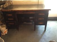 1950s - 1960s Solid wood desk
