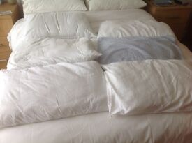 6 clean polyester pillows