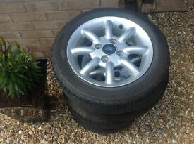 Ford Ka zetec alloy wheels and tyres