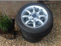 Ford Ka zetec alloy wheels and tyres