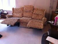 Sherborne three seater manual recliner