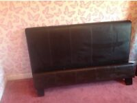 Double bed.faux leather.can deliver