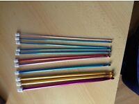 Multicolor aluminum long crochet hook knitting needles