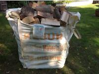 Summer special 2 large bulk builders bags of quality hardwood logs