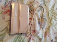 Pink leather occasion handbag