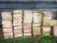 Approx 75 reclaimed buff and terracotta pamment tiles