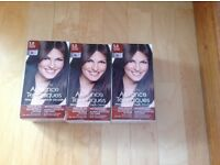 3 x Advance Professional Hair Dye Medium Brown NEW