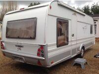 tabbert Caravan 560 Vivaldi excel (2009) with awning. Like hobby and fendt