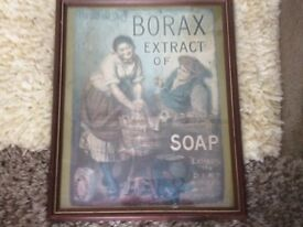 Borax extract of soap poster