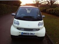 2005 55 Plate Smart Car City Coupe, Passion 61 Auto, Air-condition, Radio Cd, Color Black And White