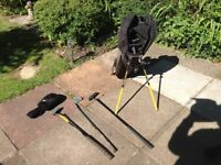 Childs golf bag and clubs