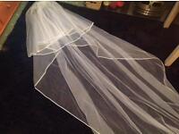 Two tier chapel length veil