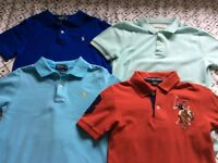 Designer boys Ralph Lauren polo shirts x3 and 1 x Zara polo shirt