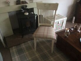 2 Up dated brand new chairs upholstered in Laura Ashley Keynes