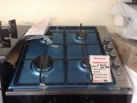 Lamona 4 burner stainless steel gas hob. £99. New/graded. 12 month Gtee