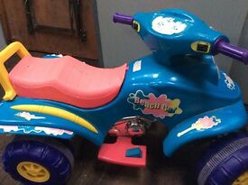 Childs toy car runs well but needs a new battery