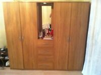 Peru 4-Door, 4-Drawer Combi Fitment Wardrobe
