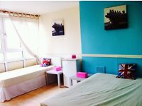 BIG LOVELY DOUBLE/TWIN ROOM HABITACION, 8 MNTS WALK BOW ROAD TUBE, 15 MNTS TUBE OXFORD ST, MILE END