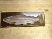 Roger Brooks hand carved wooden fish art .