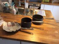Analon Professional Kitchenware Stainless Steel Saucepan Set