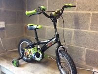 """Boys 12"""" Ben 10 Bike age 3-6 years with matching helmet excellent condition"""