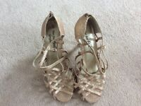 3 pairs of ladies elagant heeled shoes