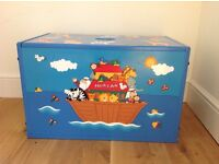 Noah's Ark Solid Wood Painted Table, Chairs, Toybox & Bookends