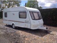 Caravan touring caravan 5 berth Elddis Avante 505 with caravan awnings