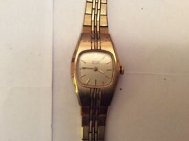 2 Ladies Gold Seiko Watches