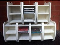 7 Cloud Design CD Storage Units in Shabby Chic Condition