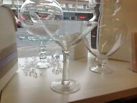 12 x Giant Martini Glasses, NEW Suitable for decorating your wedding reception tables