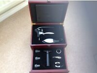 Wooden wine kit display case new unwanted gift